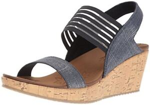 Skechers-Cali-Womens-Beverlee-Smitten-Kitten-Wedge-Sandal-Select-SZ-Color