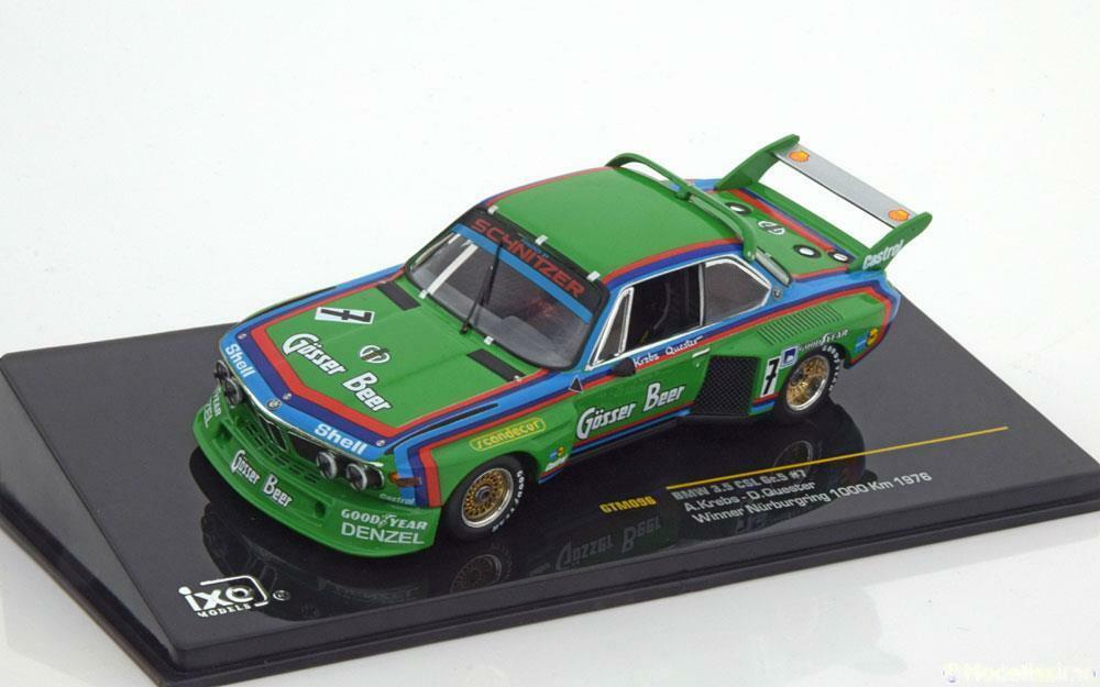 BMW 3.5 CSL GR5  7 KREBS QUESTER WIN NURBURGRING 1000 KM 1976 IXO GTM096 1 43