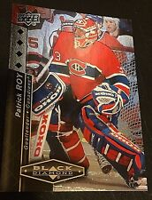 PATRICK ROY 2010-11 UD Black Diamond QUAD DIAMOND Parallel Card #187 CANADIENS