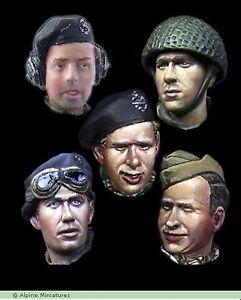 Alpine-Miniatures-1-35-H015-WW2-British-Heads-Set-1