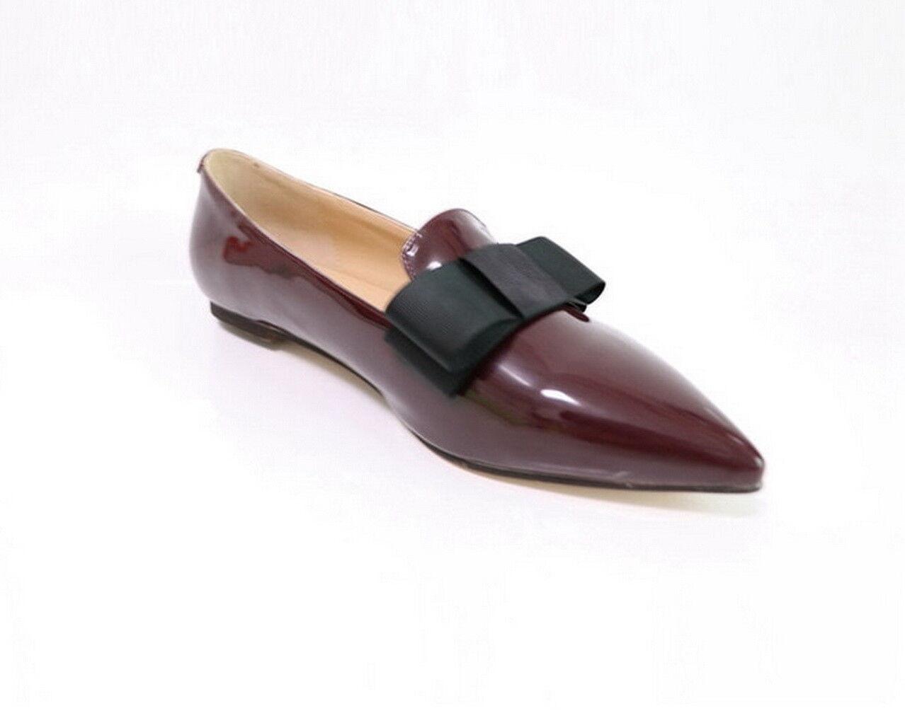 New Handmade damen damen damen Unique Bow Style Leather schuhe Wooden Heel and Leather sole 750abe