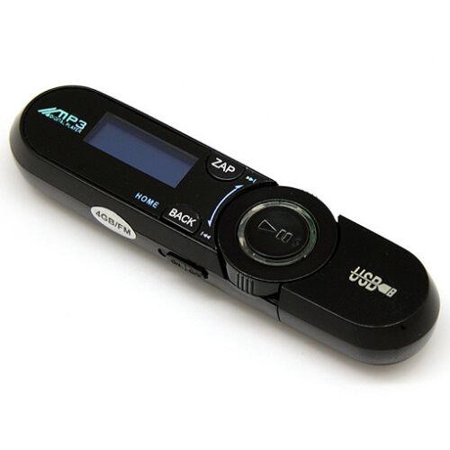 Fonction Clé USB // Noir 4Go Lecteur Baladeur MP3 Radio FM Dictaphone