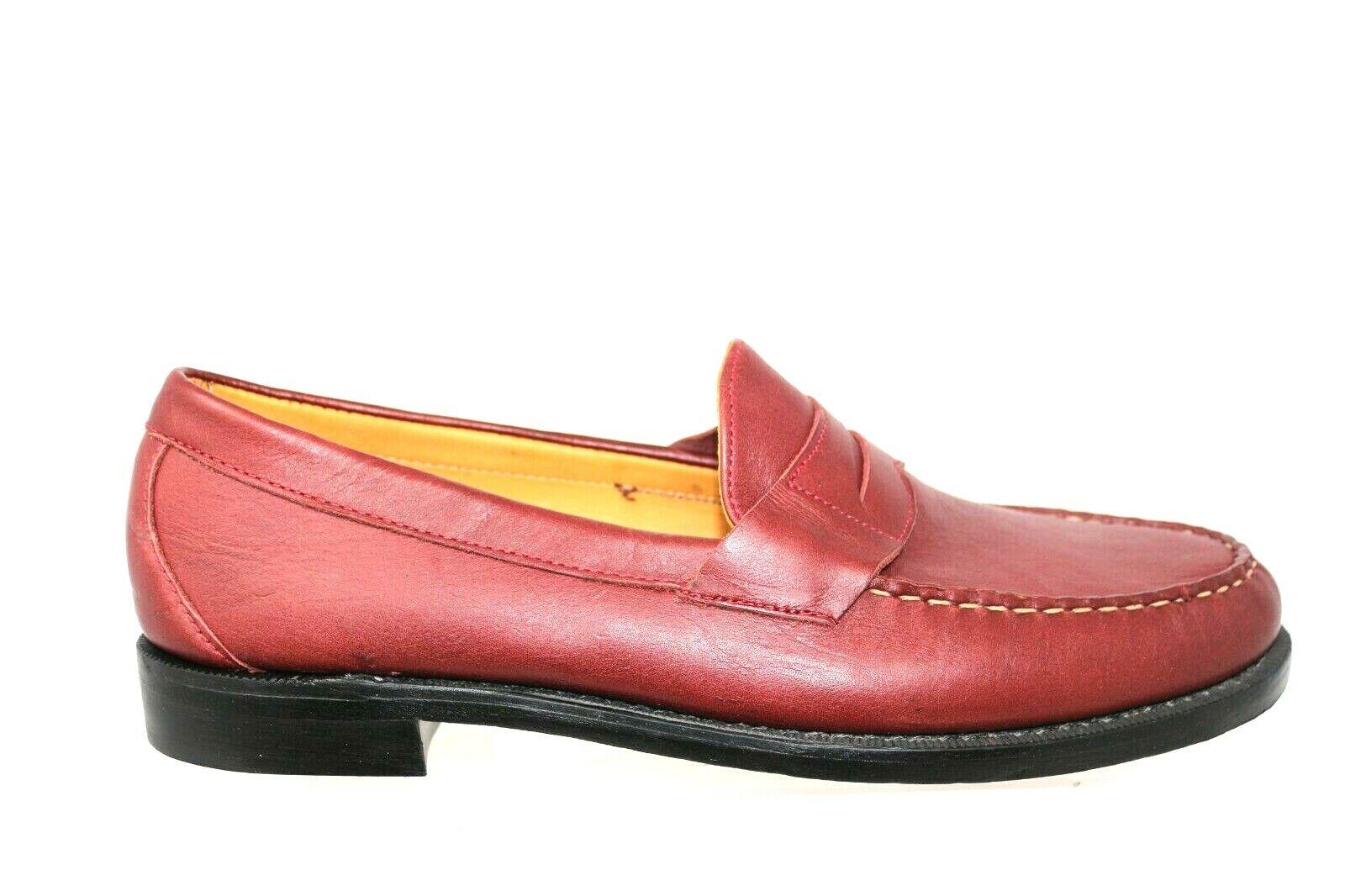Sebago Crest Cayman Borgoña Bison Cuero Slip On II Informal Mocasín Zapato Para Hombre 13