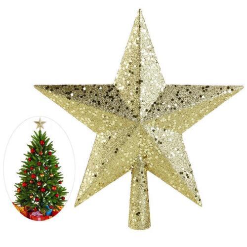 1-10 Stück Weihnachtsbaumspitze STERN Baumspitze Weihnachtsbaum Gold Christbaum