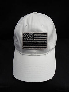 Nike Golf Unstructured White Twill Dad Hat With Grey American Flag ... dad3ca5f7ed