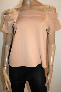 Valleygirl-Brand-Tan-Off-Shoulder-Textured-Top-Size-S-BNWT-RI06