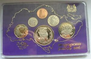 Singapore-1978-Lion-Mint-Box-Set-of-6-Coins-Proof