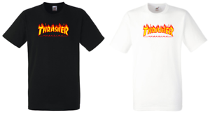 T-SHIRT-THRASHER-NERA-BIANCA-MAGLIA-MAGLIETTA-UOMO-DONNA-FRUIT-OF-THE-LOOM-B-amp-C
