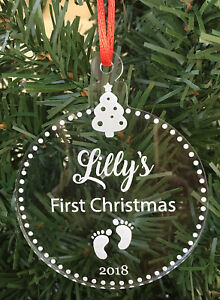 Babys-First-Christmas-Personalised-Engraved-Acrylic-Ornament-Made-In-Aus