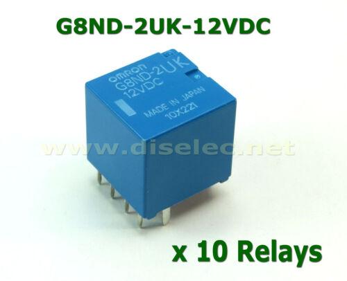 10 relays G8ND-2UK-12VDC OMRON; G8ND2UK12VDC RENAULT BMW New factory