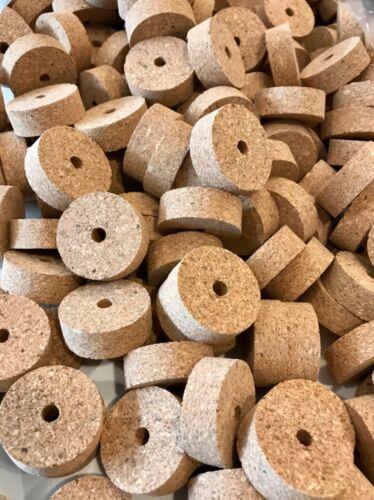 "Cork Rings 12 Large Natural Superior Burl 1 1//2/"" X 1//2/"" X 1//4/"""
