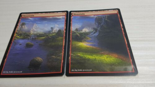 Mountains #4 Non-Foil Panorama Custom Altered Basic Lands GnD Cards