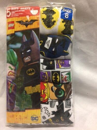 ASSORTED NEW! DC Comics Cotton Lego Batman Underwear Briefs FOR BOYS 5 PACK