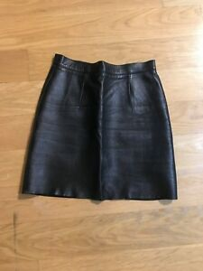 fb39ef96ab828 Details about American Apparel Black Leather Skirt