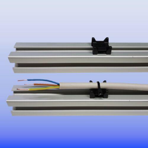 Aluprofil Nut 10 Bosch Raster Kabelbinder Block Kabelhalter Kabelführung