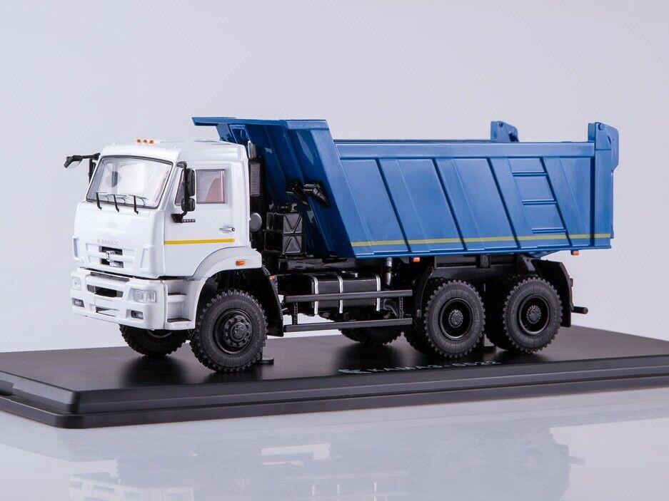 KAMAZ-6522 6×6 dump truck (Facelift)  Weiß-Blau  SSM1252 1 43 New in a box