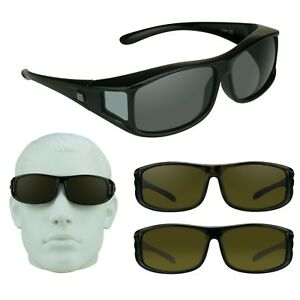122f664a41 Image is loading POLARIZED-Large-FIT-OVER-Sunglasses-Cover-Over -Prescription-