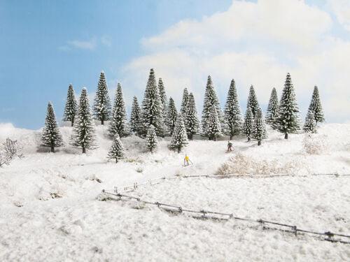 5-14 cm hoch #NEU in OVP# TT NOCH 26928 Spur H0 10 Stück Schneetannen