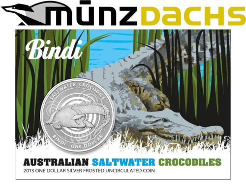 $1 Saltwater Crocodiles Bindi Australia 1 oz .999 fine Silver 2013 Blister