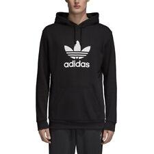 Adidas Trefoil hoodie Felpa sportiva con cappuccio Uomo Nero Black (r3 )