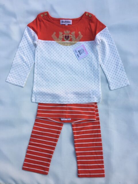 NWT  Juicy Couture Girls Leggings Set Size 3/6M