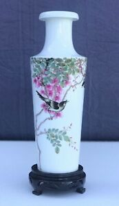 Vase-Famille-Rose-Marked-Xiong-Meng-Ting-20th-PRoC-China