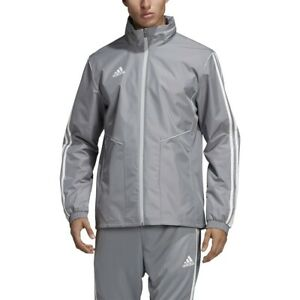 Details about Adidas Men's Tiro 19 All Weather Jacket Rain Coat Waterproof Grey DW4732