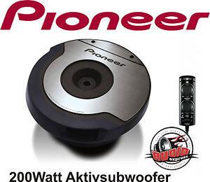 Pioneer-TS-WX610-Aktiv-Subwoofer-fur-Reserverad-TSWX610-VW-BMW-Seat-Skoda-Fiat