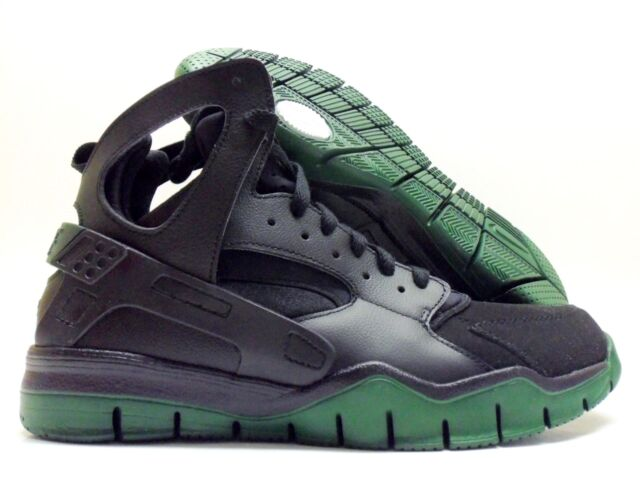 175dcfa8f6eb NIKE AIR HUARACHE BBALL 2012 BLACK GORGE GREEN SIZE MEN S 10  488054-003