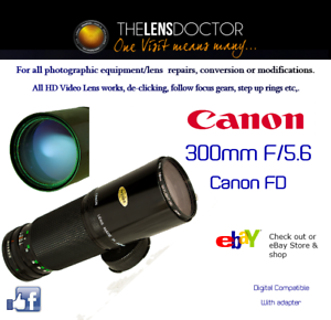 CANON-FD-EF-300-F5-6-OUTSTANDING-WILDLIFE-SPORTS-PRIME-REFURBISHED-EXCELLENT