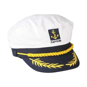 1PC Fancy Sailor Ship Boat Captain Hat Navy Marins Admiral Adjustable Cap