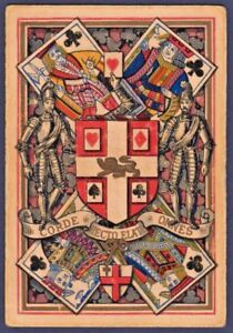 Playing-Cards-1-Single-Card-Antique-Wide-Square-Corner-1882-WORSHIPFUL-Co-cream