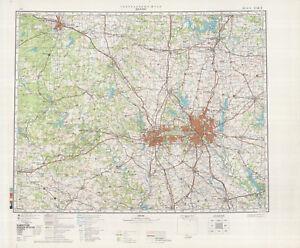Russian Soviet Military Topographic Maps Dallas Usa 1 500 000