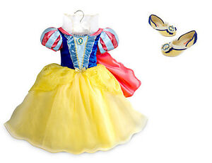 Image is loading NEW-Disney-Store-Princess-Snow-White-Costume-Dress-  sc 1 st  eBay : princess snow white costume  - Germanpascual.Com