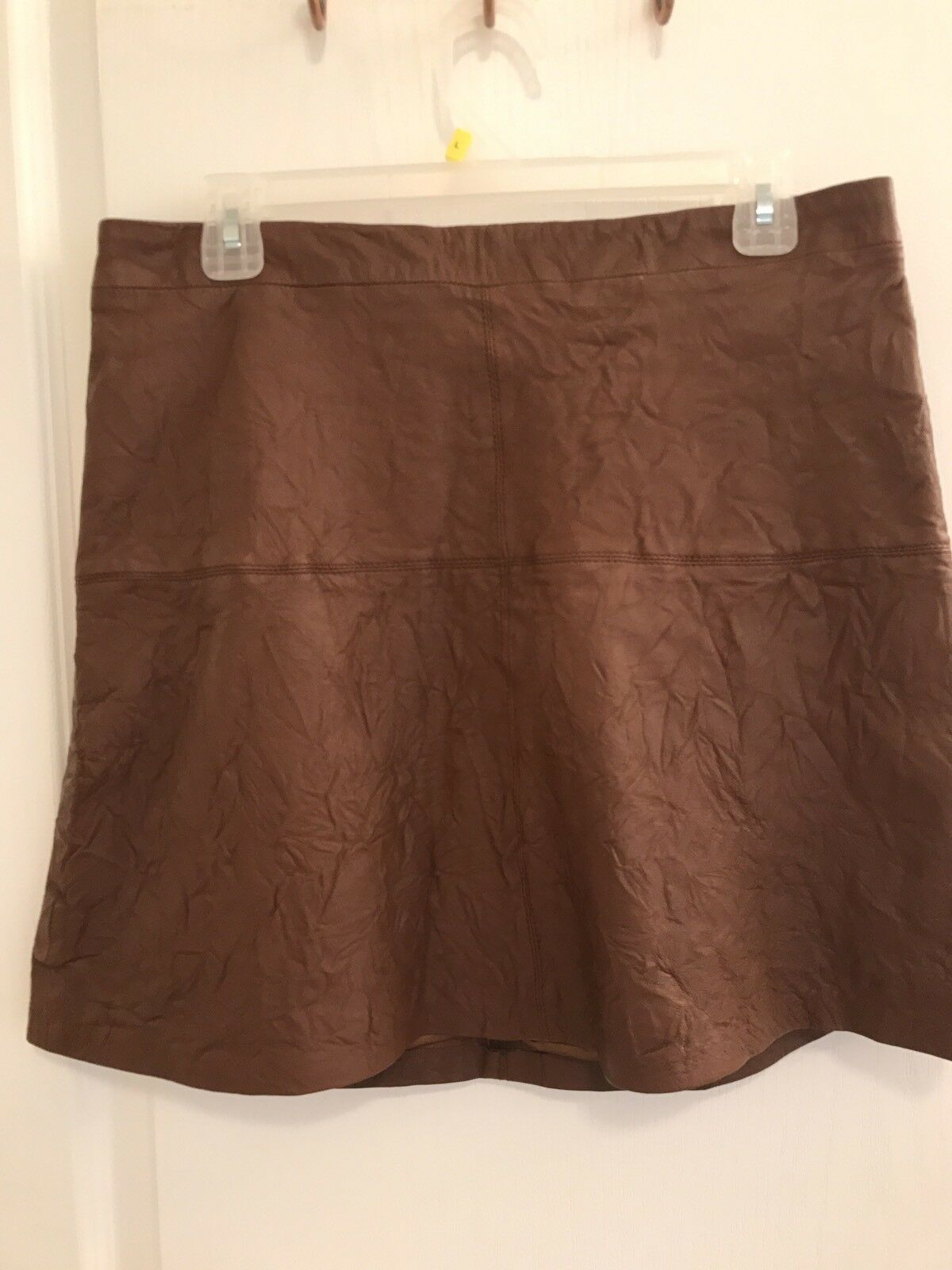 Sanctuary NWT Womens Ella Brown Leather Above-Knee A-Line Skirt 12