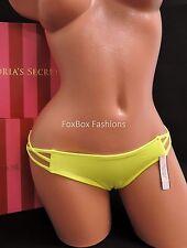 Small S NWT VICTORIA'S SECRET Strappy Cheeky Bikini Bottoms 8P9 Neon Yellow