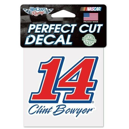 CLINT BOWYER #14 WINCRAFT 4X4 PERFECT CUT DECAL STICKER SHEET