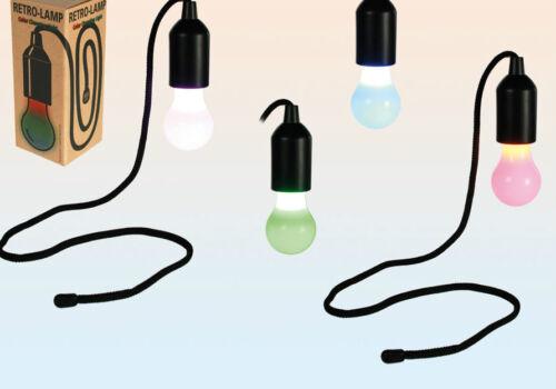 LED Leuchte Lampe Retro Glühlampe mit Aufhängekodel Retrolampe Retrolook Farben