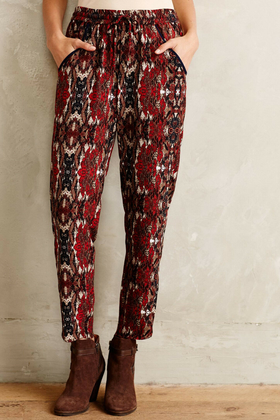 Cartonnier Letna Joggers Pants Größe XS, S, M rot Motif NW ANTHROPOLOGIE Tag