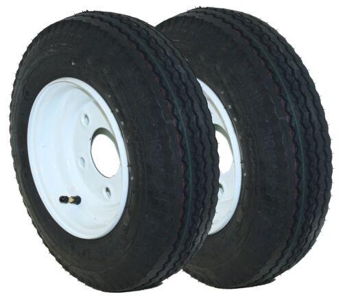 2x 4.80//4.00-8 Load Star Trailer Tire Wheel Assembly 5 Lug DOT Load Range C