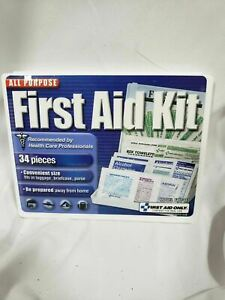 First Aid Only All-Purpose First Aid Kit, 34 Pieces, Blue/White (FAO112)-A