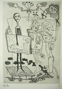 Estampe Originale 1971 Idem Basquiat Delanglade Art Moderne Surréaliste 65 Cm Service Durable