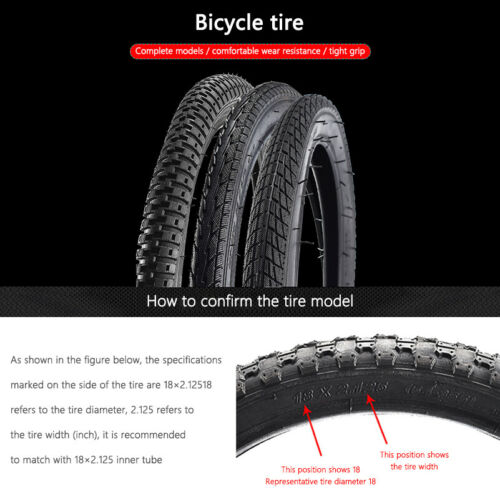 Bike Tires 12//14//16//20//24//26* 1.75//1.95//2.4/'/' for Road Bicycle MTB Outer Tube US