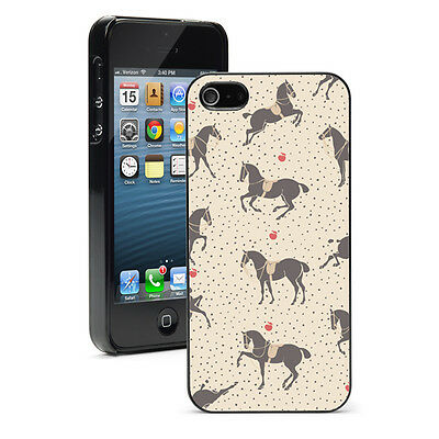 For Apple iPhone X SE 5 5S 5c 6 6s 7 8 Plus Hard Case Cover 938 Horses in Saddle