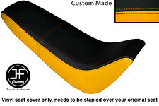 BLACK & YELLOW AUTOMOTIVE VINYL CUSTOM FOR KINROAD XT 50 GY DUAL SEAT COVER ONLY