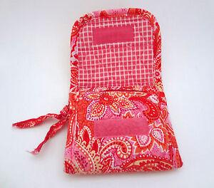 Vera Bradley Wallet Floral Paisley Sherbert Mini Pocket Organizer Accessory