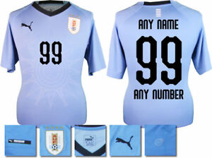 0fa2683ee Image is loading PERSONALISED-URUGUAY-HOME-2018-WORLD-CUP-PUMA-SHIRT-