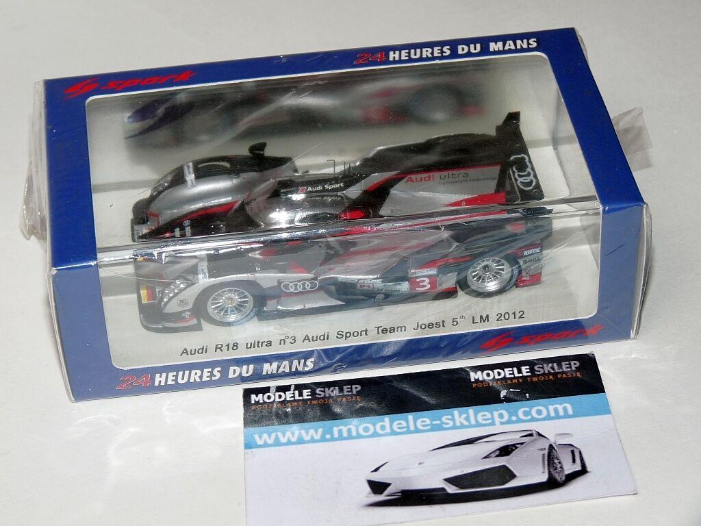 Spark S3702 Audi R18 ultra Le Mans 2012 - Gene Dumas Duval 1 43 Scale