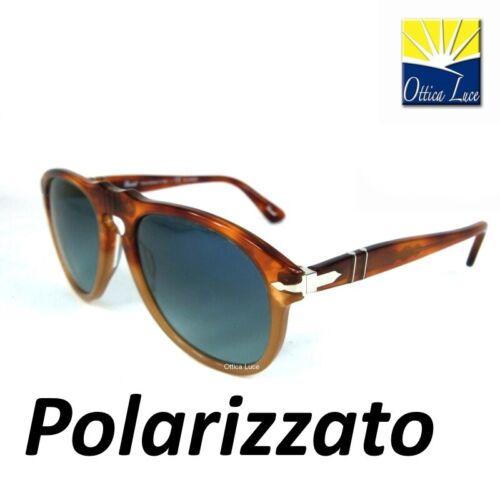 Occhiale sole Persol 649 1025 s3 Avana Blu 1025s3 Sunglass Sonnenbrille Polar