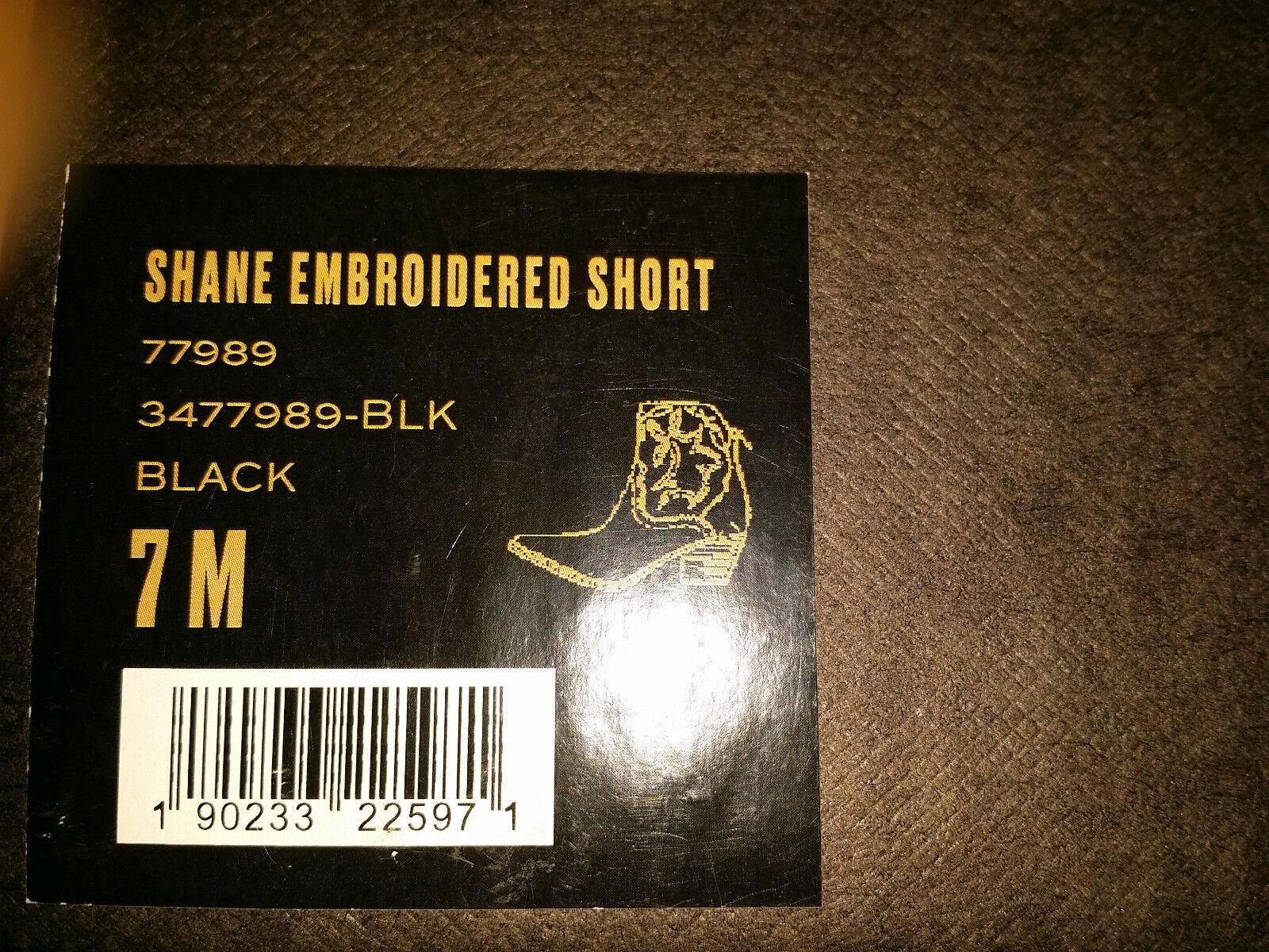 358 Nuevo Para mujeres 7M Negro Frye Shane Bordado Bota Negro 7M Corto 19f65c